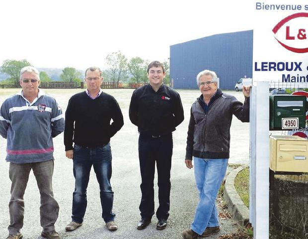 From left: Pascal Giuliani, Nicolas lopes, John Petticrew of Inter Weld Inc Ltd, and Patrick Ottaviano