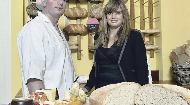 Conor Tuite, head baker of Patisserie Mimi with Sorcha Wolsey, marketing director at Beannchor