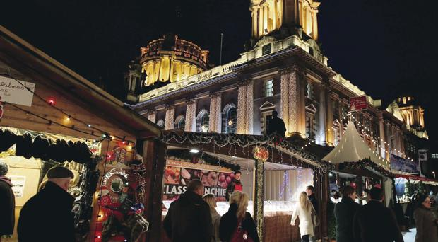 Belfast's continental market in the grounds of City Hall