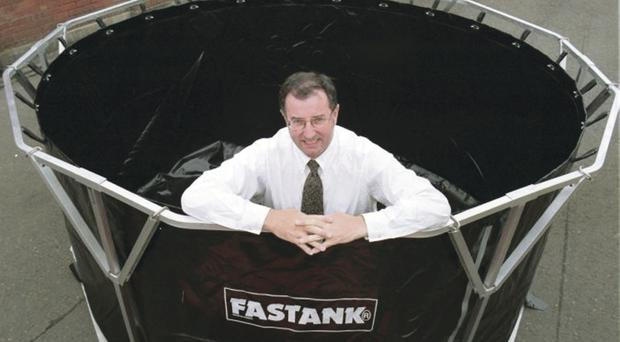 Seamus Connolly of Fast Engineering and the FASTANK storage containers which are used throughout the world