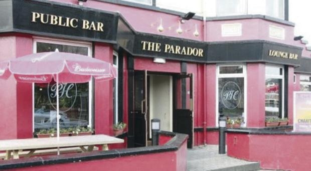 The Parador Hotel and public bar on the Ormeau Road