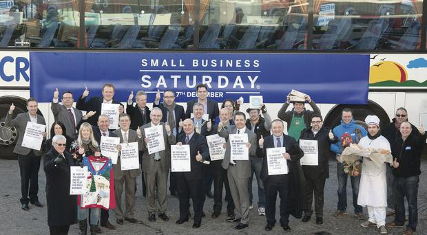 Ministers and political leaders get behind Small Business Saturday on December 7 which was launched in Belfast and Comber