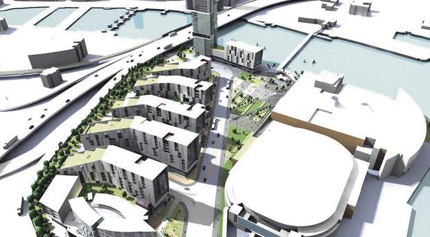An artist's impression of what the new Odyssey development will look like. The scheme's go-ahead is described as 'timely' as a city council review of the Belfast Masterplan is under way