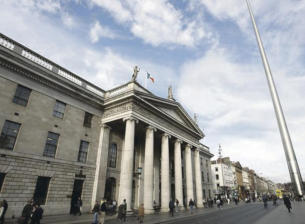 The General Post Office on O'Connell Street, Dublin. Forbes rates the Republic of Ireland as the world's top nation to do business