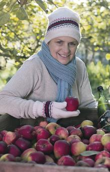 Helen Troughton from Armagh Cider Company celebrates her orchard's deal with Tesco