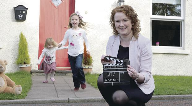Progressive chief executive Darina Armstrong launches the UTV weather campaign with Katie (5) and Zara (2) Stalker