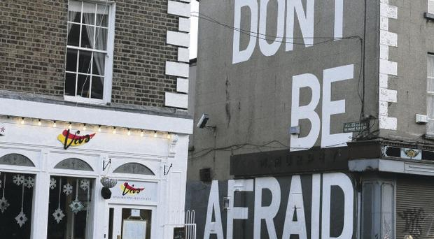 Stark message: Graffiti in South Dublin after the announcement