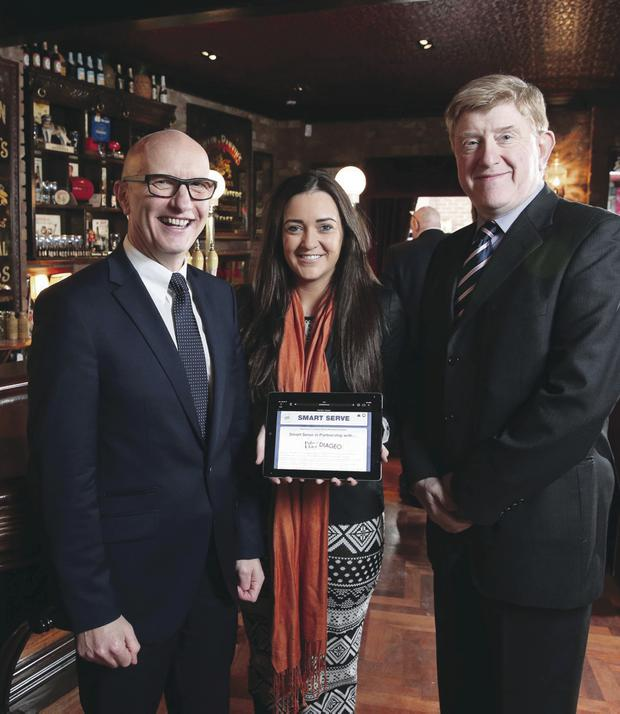 Diageo and Pubs of Ulster has launched a new online resource – www.smartserve.eu – to help small shop and bar owners sell and serve alcohol responsibly. Colin Neill, chief executive of Pubs of Ulster and Gemma Bell, head of responsible drinking at Diageo Ireland, helped launch the resource with Chairman of the Responsible Retailing Code Duncan McCausland