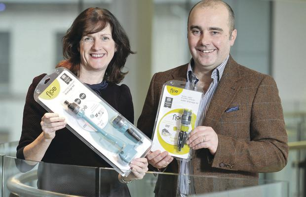 Lisburn-based APT Innovations is exporting its innovative water drainage system across the UK, Europe and Scandinavia following a range of support from Invest Northern Ireland. At the announcement are Olive Hill of Invest NI with Jason Paul from APT Innovations