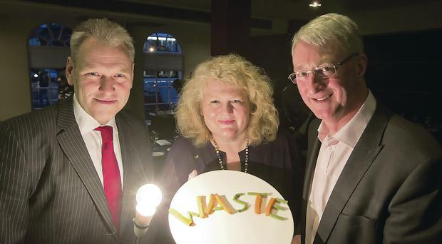 Gary McFarlane, director of the Chartered Institute of Environmental Health; Michele Shirlow, chief executive of Food NI; and Gordon Harvey, hospitality consultant