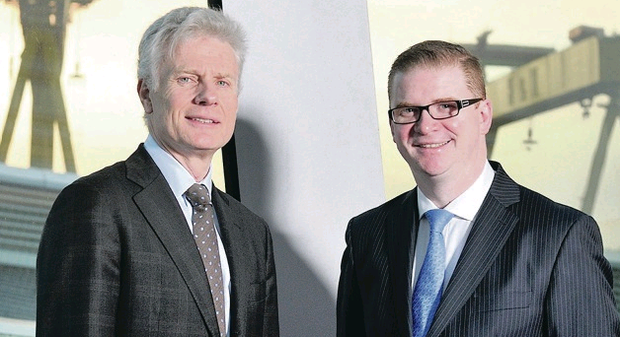 Lord Deighton (left) and Simon Hamilton hope to improve infrastructure