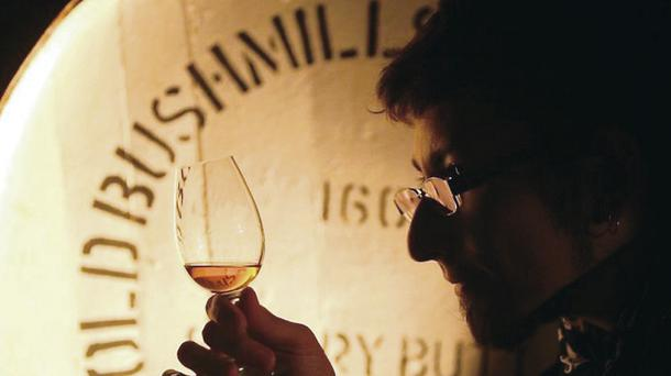 Nikolay Fedoseev from Russia at a blind tasting at the Bushmills distillery