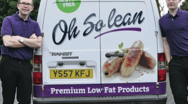 Sean and Connor Morgan with their Oh So Lean van