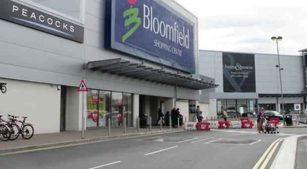 Still open: Bloomfield shopping centre in Bangor, part of a portfolio which is jointly owned by KFC entrepreneur Michael Herbert