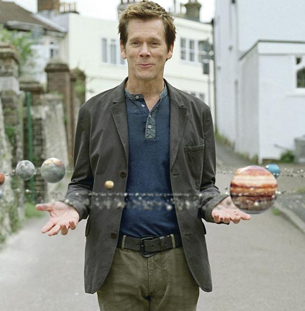 Sizzling: film star Kevin Bacon in an advertising campaign for EE, which is repatriating jobs back to the UK