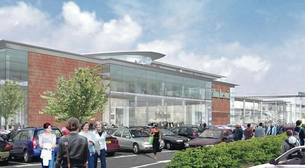 The proposed John Lewis store which is the subject of planning controversy at Sprucefield Retail Park
