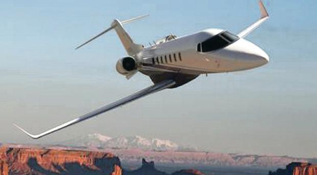 The Learjet 85 took to the air in Wichita for its maiden test flight