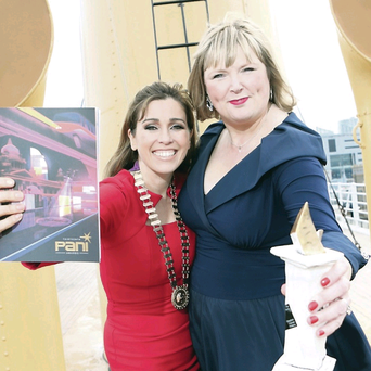 Chair of PANI Cathy Martin and awards committee chair Lynne Doherty kicked off the industry awards on board the SS Nomadic