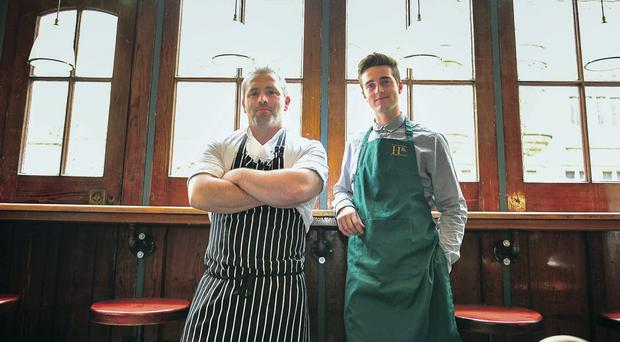 Howard Street business partners Marty Murphy (left) and Niall Davis are on the look-out for an apprentice