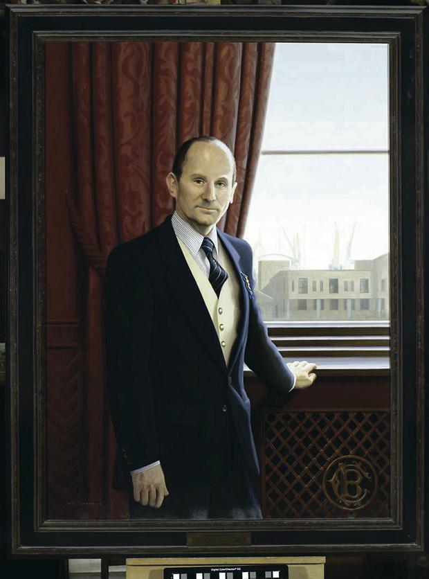 Portrait of Robert Barnett chairman of W&R Barnett, and chairman of Belfast Harbour Commissioners from 1992 to 1998