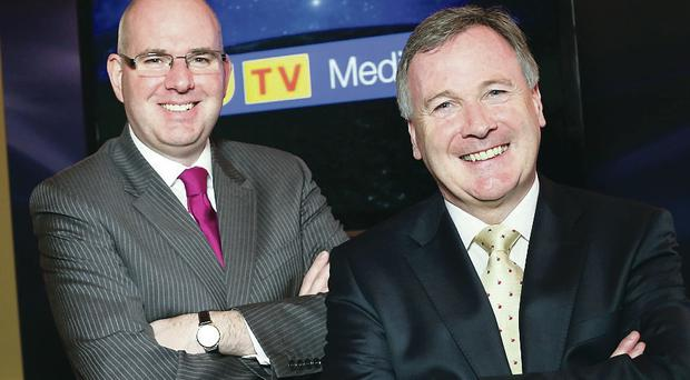 Michael Wilson, managing director of UTV Television and John McCann, group chief executive of UTV Media