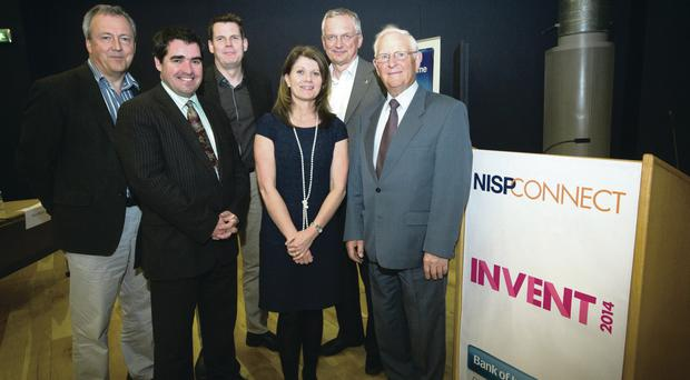 From left: Halo director Alan Watts, Clive Black of Shore Capital Stockbrokers, Siggi Saevarsson from Intel Belfast, Julie-Ann O'Hare of Bank of Ireland, Andy Hopper from Cambridge University and Tom Eakin of TG Eakin. The seventh judge was chief executive of Cirdan Imaging, Hugh Cormican