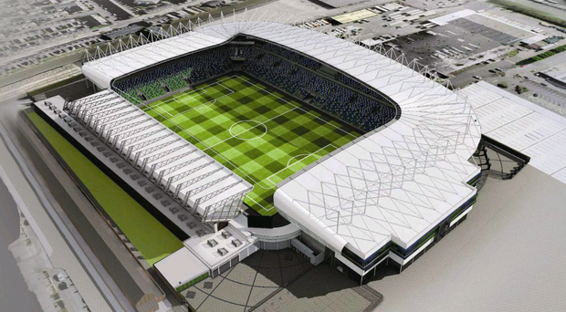 Architect's drawing of new Windsor Park