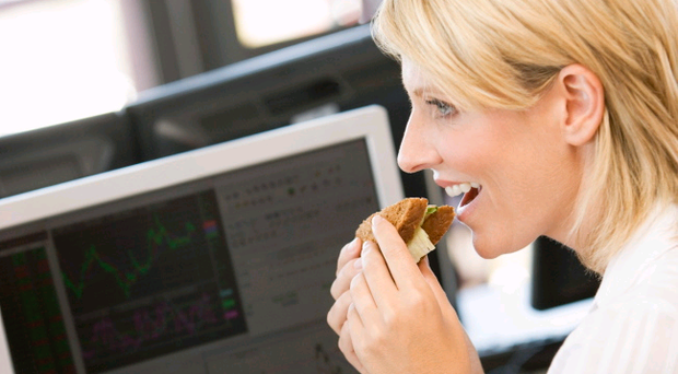 One in five people surveyed revealed that they worked through their lunch every day