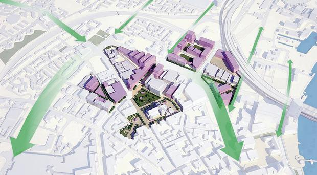 The proposed north hub