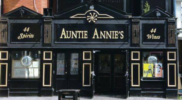 Auntie Annie's pub on Dublin Road in Belfast