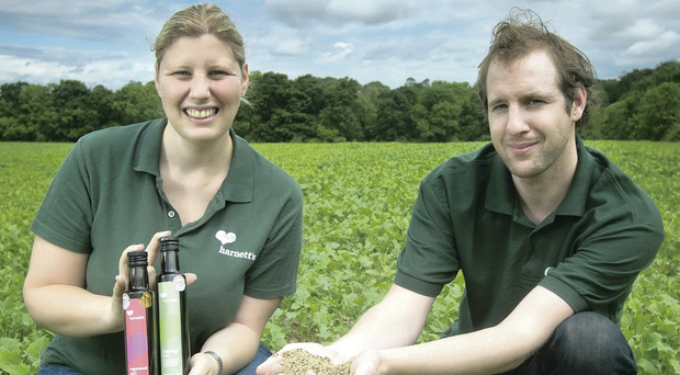 Jane and Will Harnett celebrate the success of Harnett's Oils