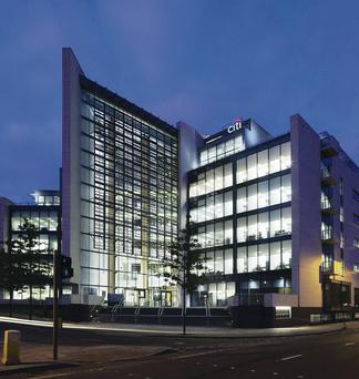 The Gateway office building in Belfast which is set to be sold by Ulster Bank