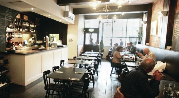 Mourne Seafood Bar in Belfast – but many city restaurants are suffering because of the fall-off of visitors from the Republic
