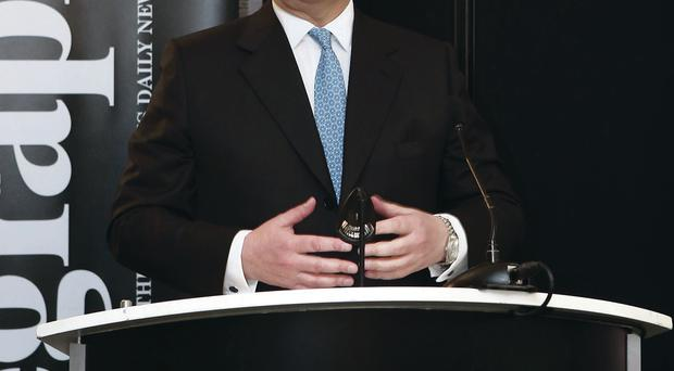 The Duke of York, Prince Andrew, when he launched the Belfast Telegraph's 50 Jobs in 50 Days campaign earlier this year