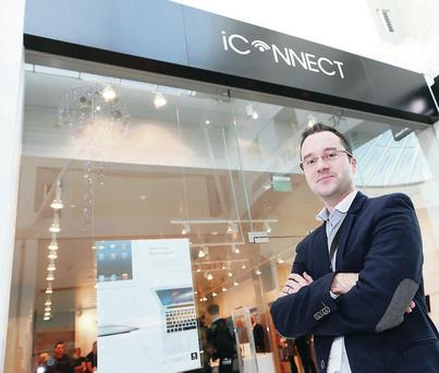 iConnect director John McEvoy at the company's new store in Foyleside Shopping Centre