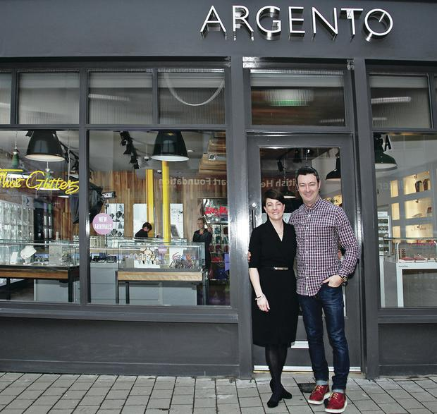 Argento founder Pete Boyle with managing director Emma Filmer at their premises in Lisburn