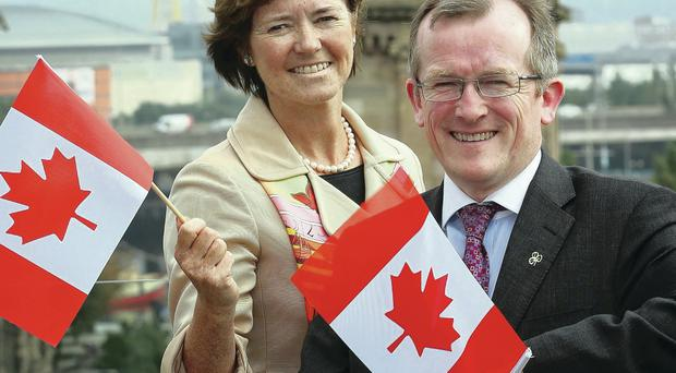 Alison Metcalfe, Tourism Ireland's head of North America, and chief executive Niall Gibbons, marked the launch of its new strategy for attracting Canadian visitors