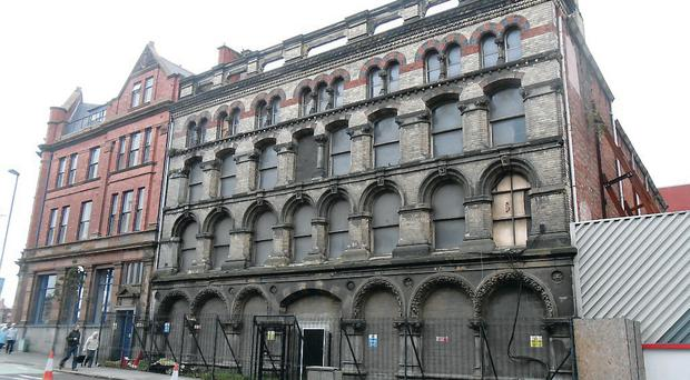 The exterior of the former Riddel's Warehouse
