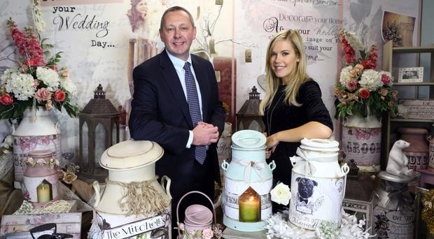 Sean Sheehan, Bank of Ireland's regional director for consumer and small business, with Samantha Bogle of Lily Annabella