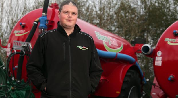 Global growth: Garth Cairns of the Waringstown-based Slurry Kat