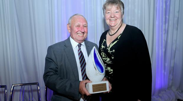 Ellvena Graham, head of Ulster Bank in Northern Irerland and Derek Geddis, co-chairman of Avondale Foods, winner of the all-island Food and Drink award