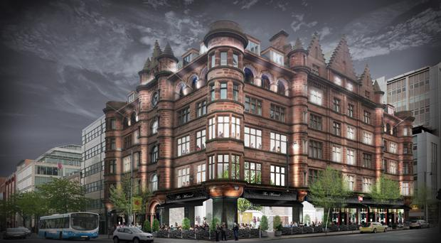 Threatened: Artist's impression of proposed 40-bedroom hotel called The Mutual on site of The Scottish Mutual building