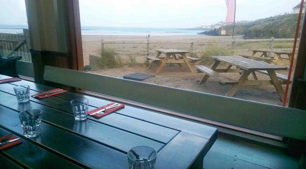 Beauty spot: Great food and a fantastic view at Harry's Shack