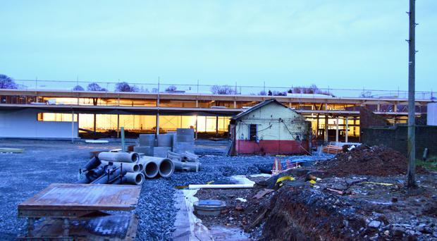 The Tesco building work at the site in Armagh, which will now be halted