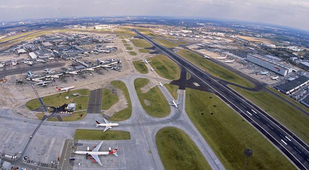 One of Heathrow airport's runways: There are two direct routes to the London airport from Belfast