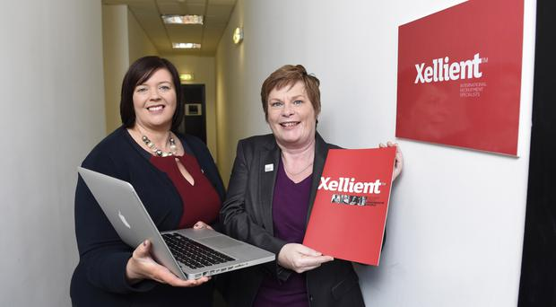 Cathy McCorry from Xellient with Vicky Kell from Invest NI