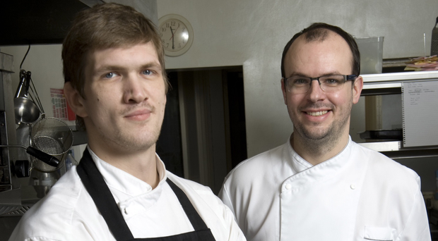 New Ardtara chef Eddie Attwell (left) with Browns Restaurant Group head chef and co-owner Ian Orr