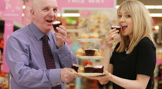Scott's Bakery product manager Elaine Holywood with Asda NI buying manager Brian Conway celebrate their new partnership