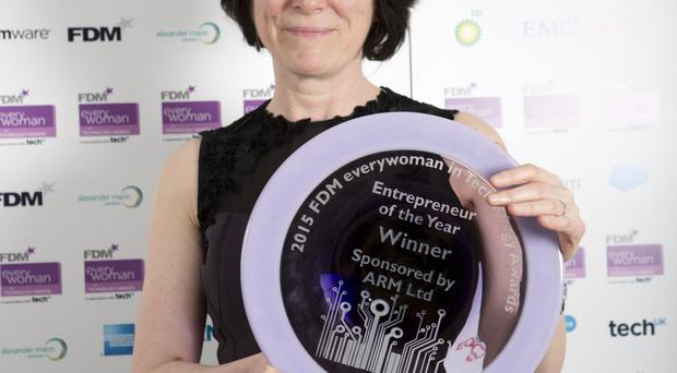 Winner: Core Systems chief executive Patricia O'Hagan MBE was named winner in the Entrepreneur of the Year category in the FDM Everywoman in Technology Awards