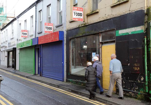 In recent times an estimated one in five shops have been lying vacant in the city as well as in a number of towns across the region
